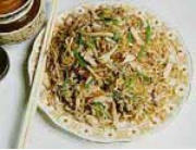Chinese Food Recipe: Stir-fried Noodles (Chicken Chow Mein)