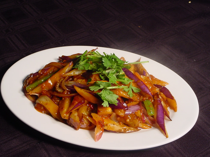 Chinese Recipes: Eggplant in Garlic Sauce